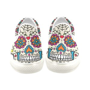 INTERESTPRINT Mens Water Shoes Floral Sugar Skull Pattern Quick Dry Lightweight Barefoot Shoes